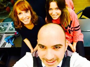Alexandra, Agathe et Alexandre, au salon Hair Pop