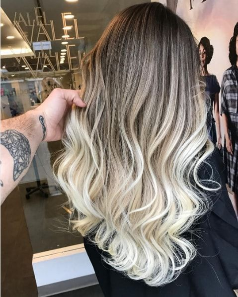 ombré hair blond polaire