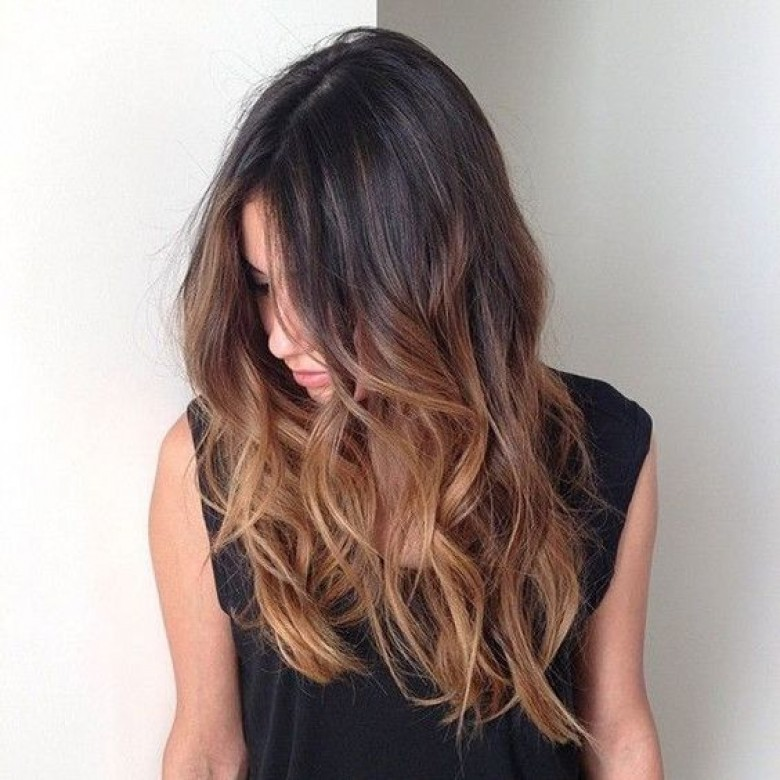 ombré hair chatain brun