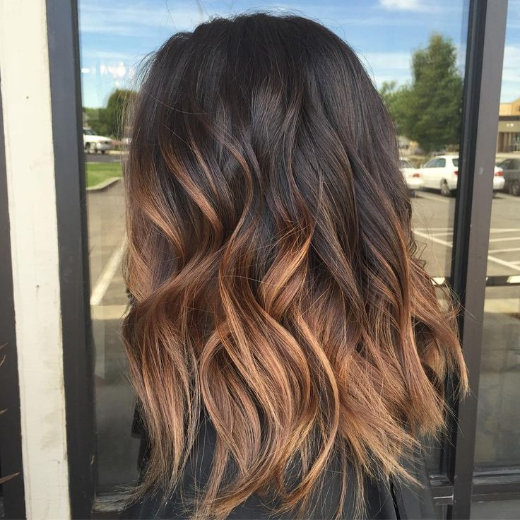 Ombre Hair Brown To Caramel To Blonde Medium Length Ombré hair : 1...